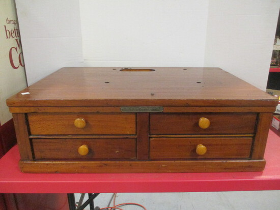 National Cash Register Four Drawer Wood Base
