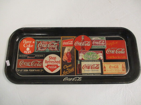 1995 Metal Sign Art Coca-Cola Tray