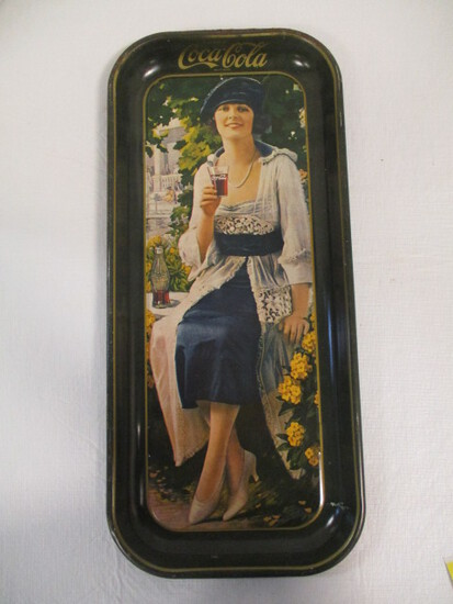 Vintage 1973 Coca-Cola Girl Metal Tray