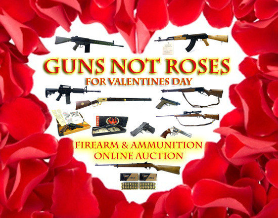"""Guns NOT Roses"" Valentine's Day Online Auction"