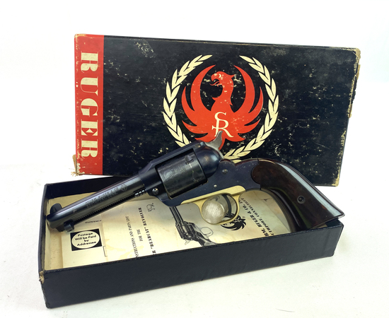 Early 1959 Ruger Bearcat .22 LR Revolver with Original Box & Receipt
