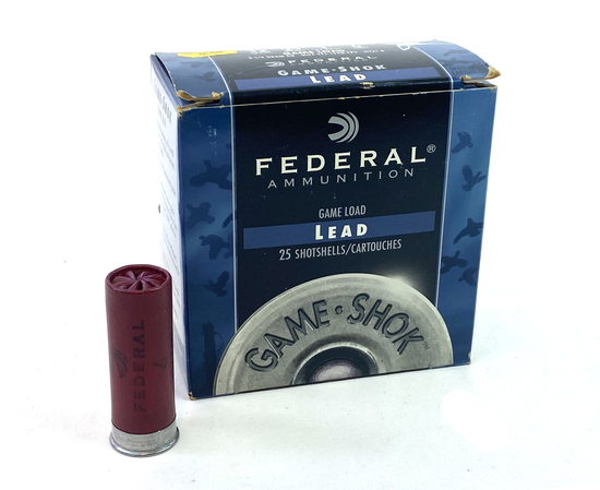 "NIB 25rds. 12 GA. Federal Game Shok Lead Game Load 2-3/4"" Shotgun Ammunition"