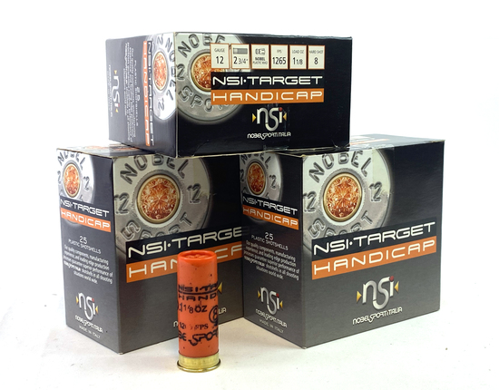 "NIB 75rds. 12 GA. NSI Target Handicap 2-3/4"" Shotgun Ammunition"