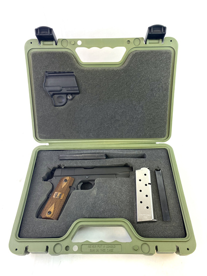 Excellent Springfield Armory GI Full Size 1911-A1 Mil-Spec Parkerized .45 ACP Pistol in Case