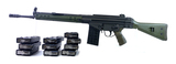 Excellent Desirable Green PTR 91 .308 Win. Semi-Automatic Battle Rifle + 11 Magazines