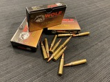 51rds. of WOLF Gold .223 REM. 55gr. Copper FMJ Brass Ammunition