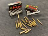 44rds. Of .223 REM. Ammunition - 25rds. TulAmmo Steel Case / 19rds. Brass Case Ammunition