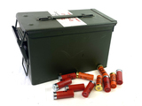 Medium Size Metal Ammunition Box with (11) 12 GA. 2-3/4