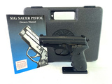 Original German Frame Sig Sauer P229 Stainless .40 S&W Semi-Auto Pistol in Case + Trigger Upgrade