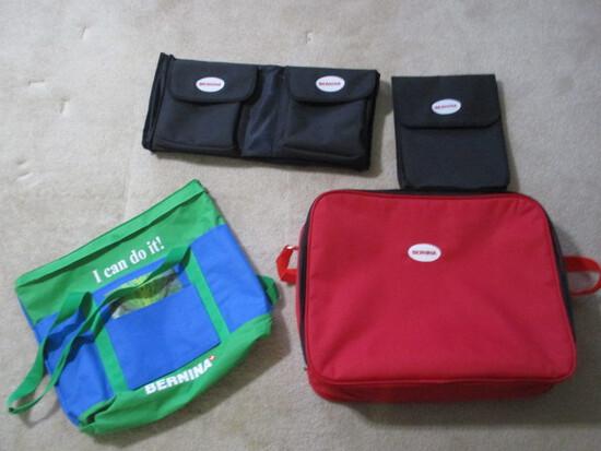 Bernina Logo Bags-(1)Tote, (2)Utility and (1)Zipper Case