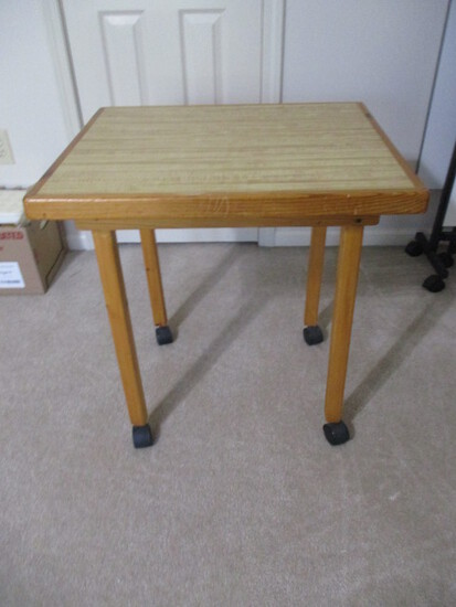 Custom Built Portable Wood Table with Laminate Top