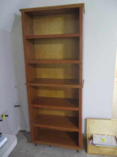 Custom Built 6 Shelf Bookcase with Legs