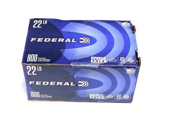 NIB 800rds. of .22 LR Federal 40gr. Ammunition
