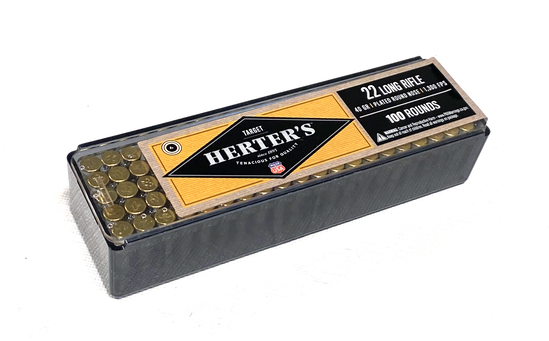 NIB 100rds. of .22 LR Herter's 40gr. Plated RN Ammunition