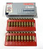 NIB 20rds. 243 WIN. Federal Classic 100gr. Hi-Shok Soft Point Ammunition