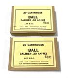 NIB 40rds. of .30 Caliber (.30-06 SPRG.) AN-M2 BALL Military Ammunition