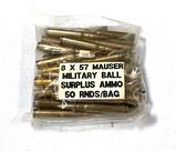 50rds. 8x57 Mauser Military BALL Surplus Ammunition
