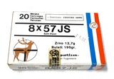 NIB 20rds. 8x57 JS - Yugoslavian Century Arms Soft Point 195gr. Ammunition