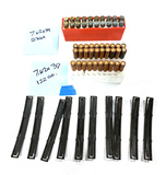 50rds. of Various 7.62x39 Ammunition with 10 Stripper Clips