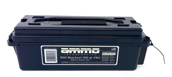 NIB 200rds. of 300 AAC BLACKOUT 150gr. FMJ Brass Ammunition in Sealed Box