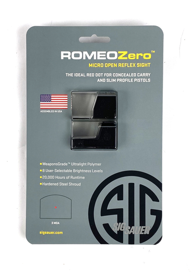 New Sig Sauer Romeo Zero 1x24MM 3 MOA Micro Open Reflex Sight MSRP $219.99