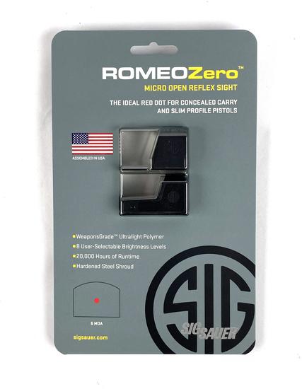 New Sig Sauer Romeo Zero 1x24MM 6 MOA Micro Open Reflex Sight MSRP $219.99
