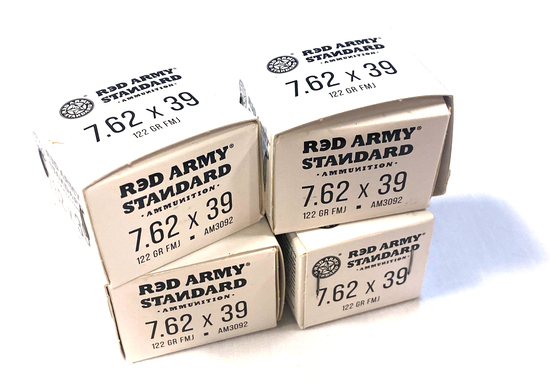 NIB 80rds. of Red Army 7.62x39mm 122gr. FMJ Steel Case Non-Corrisive Ammunition