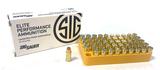 NIB 50rds. of Sig Sauer 9mm Luger 115gr. JHP Personal Defense Brass Ammunition