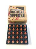 NIB 25rds. of Hornady Critical Defense 9mm Luger 115gr. FTX Defense Ammunition