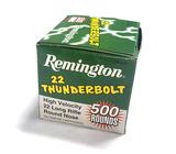NIB 500rds. of Remington 22 Thunderbolt .22 LR 40gr. High Velocity RN Ammunition