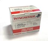 NIB 100rds. of Winchester .223 REM. 55gr. FMJ Brass Ammunition