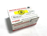 NIB 100rds. of Winchester 9mm Luger 115gr. FMJ Brass Ammunition