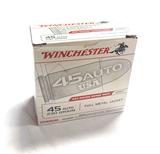 NIB 200rds. of Winchester .45 AUTO 230gr. FMJ Brass Ammunition