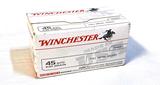 NIB 100rds. of Winchester .45 AUTO 230gr. FMJ Brass Ammunition