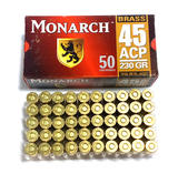 NIB 50rds. of Monarch .45 AUTO 230gr. TMJ Brass Ammunition