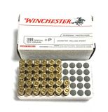 Partial Box of New 32rds. of Winchester .38 Special +P 125gr. JHP Brass Ammunition