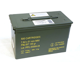 Sealed Metal Can of 500rds. Of PPU 7.62x51 (.308 WIN) M80 FMJ BT 145gr. Ammunition