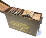 200 Round Metal Ammo Can Full of 7.62mm NATO M82 Blank Rounds