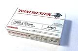 NIB 20rds. of Winchester 7.62x51mm (.308 WIN) M80 149gr. FMJ Ammunition