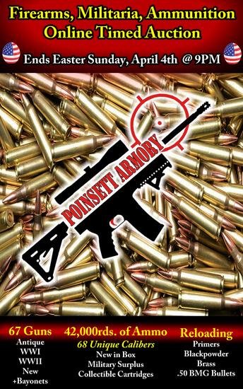 Firearms, Militaria, & Ammunition Online Auction