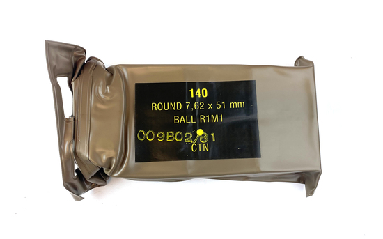 Sealed 140 Rounds of  7.62x51mm (.308 Win) BALL R1M1 SA Ammunition Battle Pack