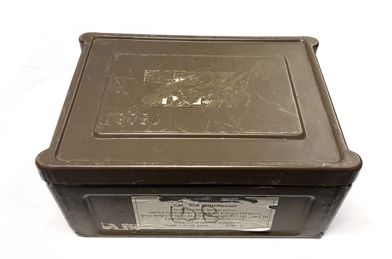 Empty Collectible Original Metal Ammunition Box for South African 7.62x51mm (.308 Win) Battle Packs