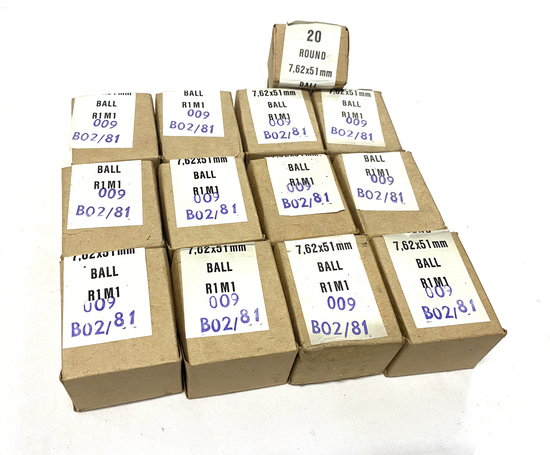260rds. of 7.62x51mm (.308 Win.) BALL R1M1 Ammunition