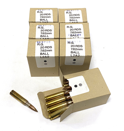 140rds. of 7.62x51mm NATO (.308 Win) BALL L2A2 Ammunition