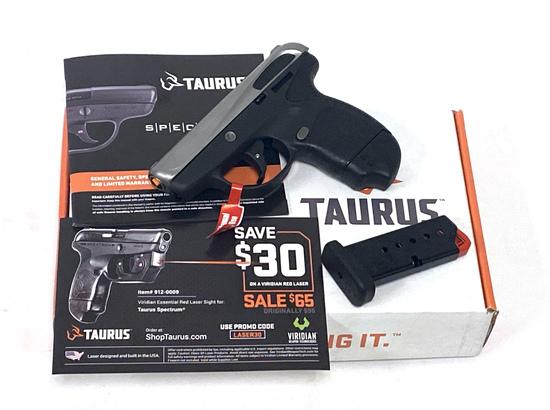 NIB Taurus Spectrum .380 AUTO SS/BLK Semi-Automatic Pocket Pistol