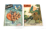 (2) Popular Vintage Wartime WWII Collier's Magazines - 1942 & 1943 Enemy Axis Covers