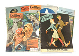 (5) Popular Vintage Wartime WWII Collier's Magazines - 1942