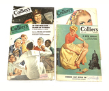 (4) Popular Vintage Wartime WWII Collier's Magazines -1943