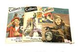 (3) Popular Vintage Wartime WWII Collier's Magazines - 1944