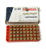 New 45rds. of Federal Gold Medal .45 AUTO 185gr. FMJ-SWC Match Ammunition